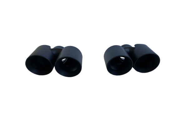 Dual ceramic black tail pipes